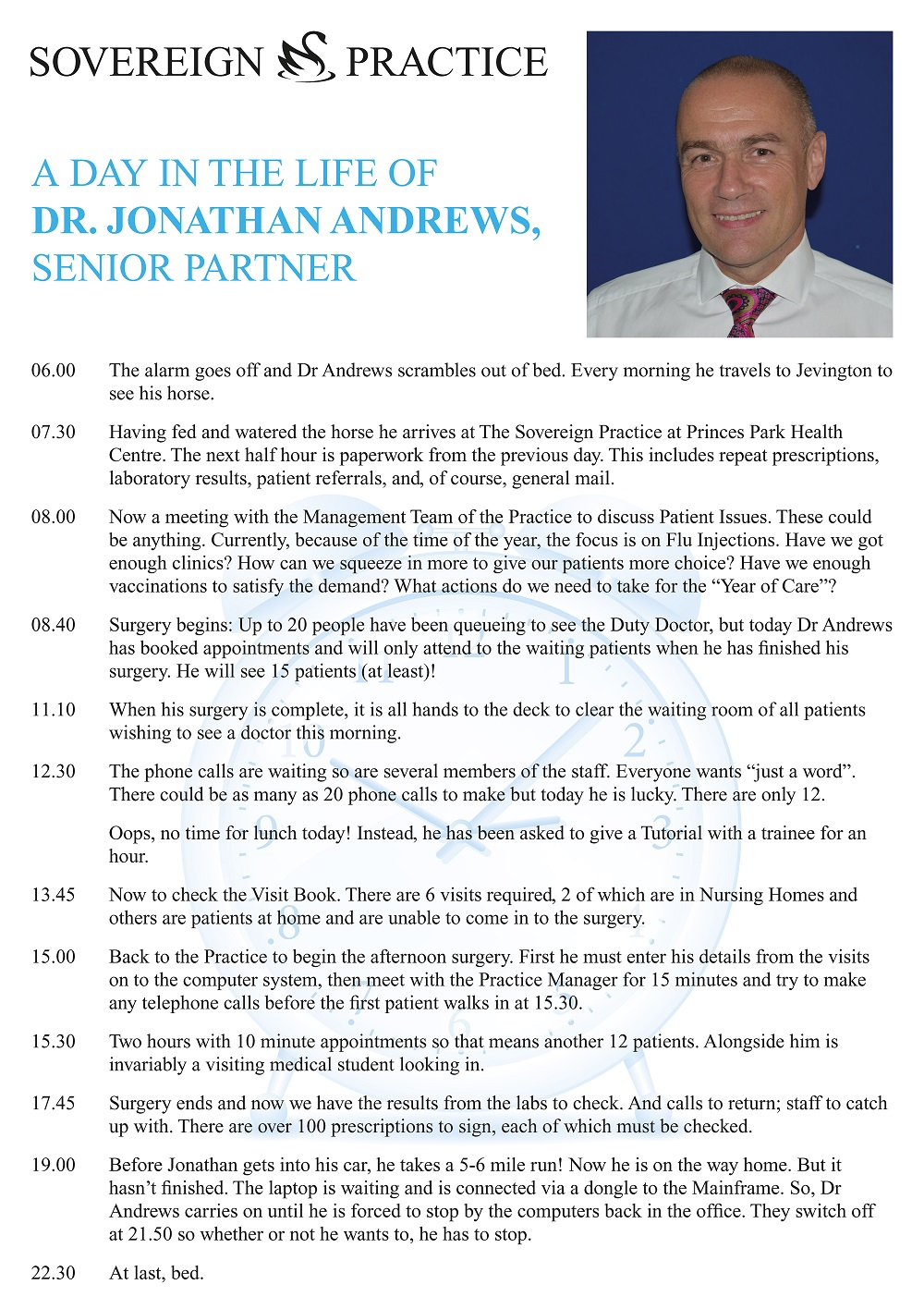 A Day in the Life of Dr Andrews